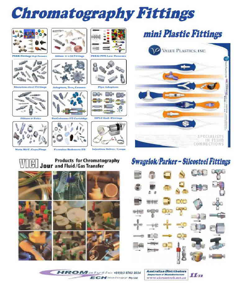 Chromatography Fittings Catalog